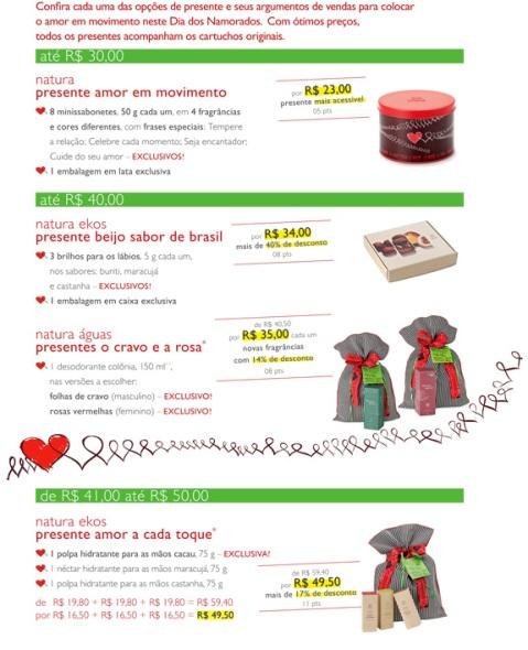 Carolina do Valle Consultora Natura Ciclo 08 2009 Presentes Natura para o Dia dos Namorados 01
