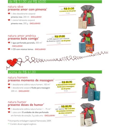 Carolina do Valle Consultora Natura Ciclo 08 2009 Presentes Natura para o Dia dos Namorados 02
