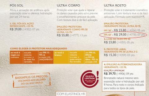 Carolina do Valle - Consultora Natura - Promoção do Ciclo 16 2009 - Natura Fotoequilíbrio Emulsão Protetora Hidratante Facial Ultra FPS 50