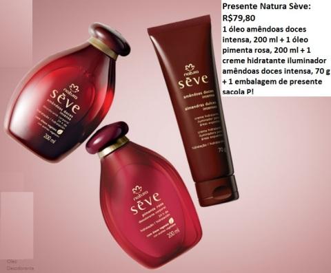 Presente Natura Sève Dia das Mães 2014 Carolina do Valle Consultora Natura Pronta Entrega Ilhéus Bahia Brasil