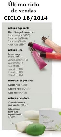 Carolina do Valle Consultora Natura Pronta Entrega Ilhéus Bahia Brasil Natura Ciclo 18.2014 último ciclo de vendas