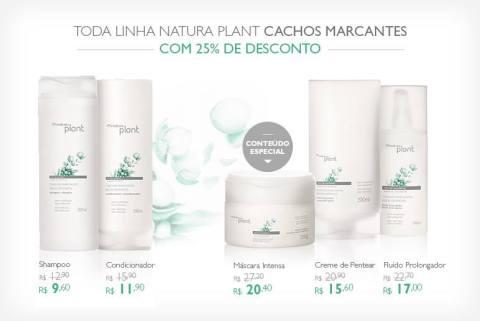 Promoção exclusiva Natura Plant Cachos Marcantes do Rede Natura Espaço Carolina do Valle de 27/01 até 02/02!