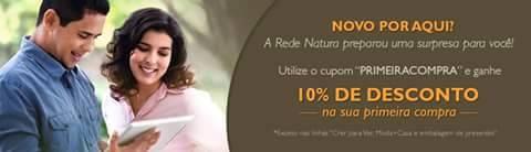 Desconto 10% na sua primeira compra no Espaço Rede Natura Carolina do Valle