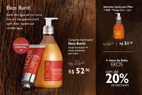 Promoção exclusiva Natura Ekos Buriti do Rede Natura Espaço Carolina do Valle de 27/01 até 02/02!