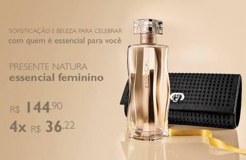 Promoção exclusiva Natura Essencial Feminino do Rede Natura Espaço Carolina do Valle de 27/01 até 02/02!