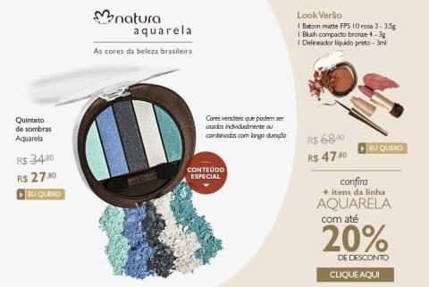 Natura Aquarela Promoção no Espaço Rede Natura Carolina do Valle até 05 01 2015