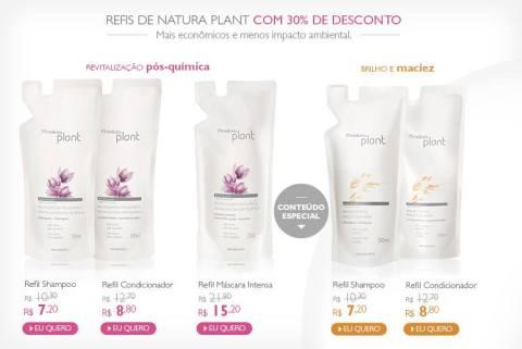 Natura Plant Refil Promoção no Espaço Rede Natura Carolina do Valle até 19 01 2015
