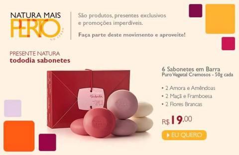 Natura Tododia Presentes Sabonetes Promoção no Espaço Rede Natura Carolina do Valle até 19 01 2015