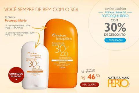 Promoção Natura Fotoequilíbrio Rede Natura Espaço Carolina do Valle de 20 até 26 01
