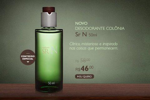 Promoção Natura SR N Colônia 50 ml Rede Natura Espaço Carolina do Valle de 20 até 26 01