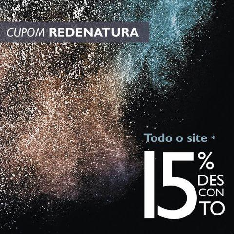 Cupom de desconto REDENATURA 15 por cento Espaço Carolina do Valle