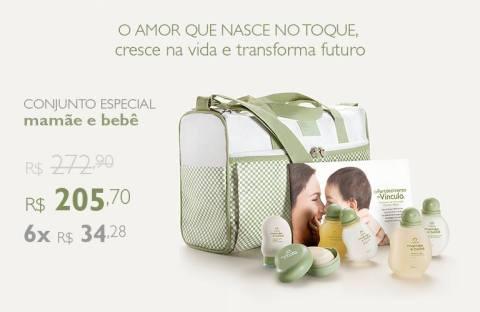 Promoção exclusivas do Rede Natura Espaço Carolina do Valle de 10 a 16 02 14 - Conjunto Mamãe e Bebê