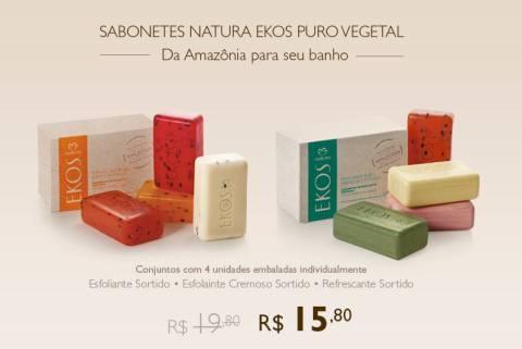 Promoção exclusivas do Rede Natura Espaço Carolina do Valle de 10 a 16 02 14 - Natura Ekos Sabonetes