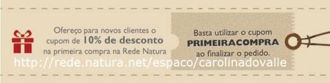 Rede Natura Espaço Carolina do Valle CUPOM DE DESCONTO