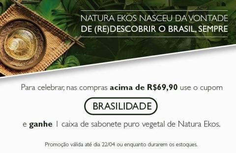 CUPOM NATURA EKOS (RE)DESCOBRIMENTO DO BRASIL
