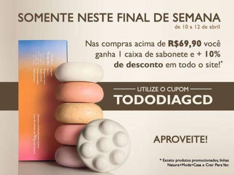 CUPOM 10% + Sabonete