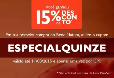Promoções Rede Natura Espaço Carolina do Valle CUPOM ESPECIALQUINZE