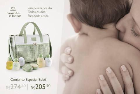 Promoções e Novidades da Rede Natura Espaço Carolina Do Valle (de 28 07 a 03 08) - Natura Mamãe e Bebê