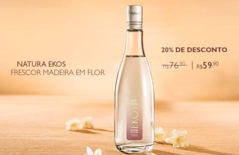 Rede Natura Espaço Carolina do Valle Natura Ekos Madeira em Flor com 20% de Desconto