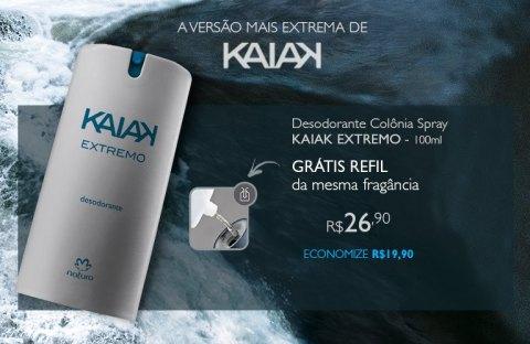 Rede Natura Espaço Carolina do Valle Natura Kaiak Extremo Compre o Desodorante Spray e Ganhe o Refil!