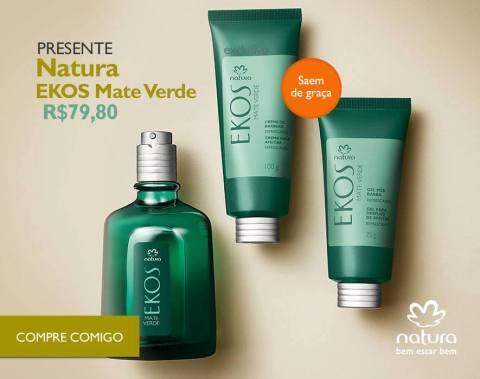 Rede Natura Espaço Carolina Do Valle Presente Natura Dia dos Pais 2015 Natura Ekos Mate Verde