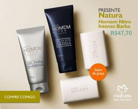 Rede Natura Espaço Carolina Do Valle Presente Natura Dia dos Pais 2015 Natura Homem Nitro Intenso Barba