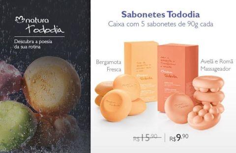 Natura Tododia Sabonetes Avelã e Romã ou Bergamota Fresca com desconto especial