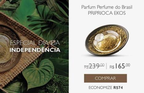 Promoção Natura Ekos Priprioca Perfume do Brasil Rede Natura Espaço Carolina do Valle