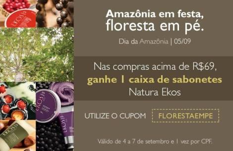 Cupom Válido de 04 a 07 de setembro Rede Natura Espaço Carolina do Valle