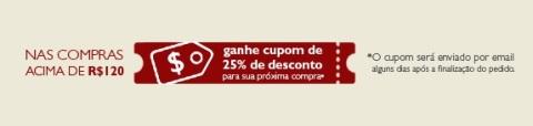 Cupom Natura 25% de Desconto no Rede Natura Espaço Carolina do Valle