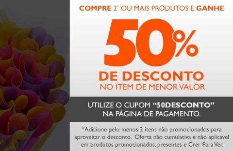 Cupom Natura de 50% de desconto