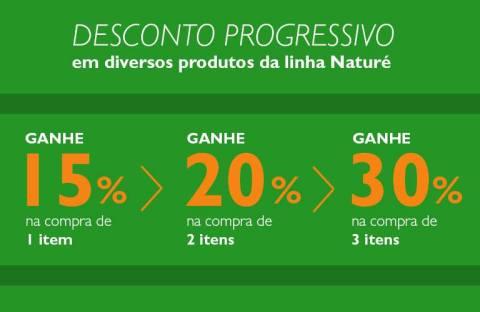 Promoção Rede Natura Espaço Carolina do Valle Natura Naturé com desconto progressivo! de 22 a 28 09 2015