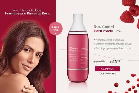 Promoção Rede Natura Espaço Carolina do Valle Natura Tododia Framboesa e Pimenta Rosa de 22 a 28 09 2015