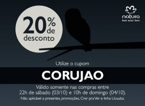 Cupom Rede Natura 20 % de Desconto