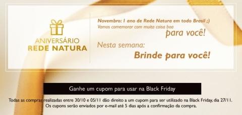 Rede Natura Espaço Carolina do Cupom para o Black Friday