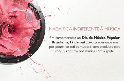 Rede Natura Espaço Carolina Do Valle Natura Dia da Música Popular Brasileira pot-pourri de produtos em promoção