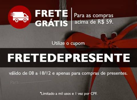 Promoções e Novidades Rede Natura Espaço Carolina do Valle (de 08  a 14 12 15) Cupom de Frete Grátis