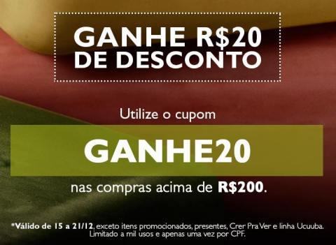 Rede Natura Espaço Carolina do Valle CUPOM DE R$ 20
