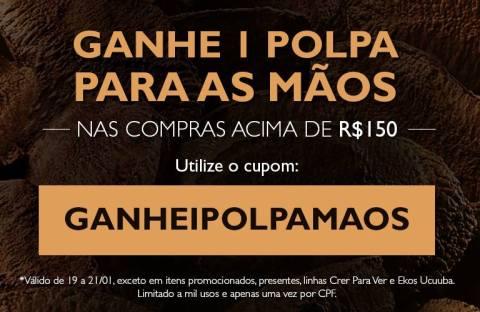 Promoções e novidades Rede Natura Espaço Carolina do Valle  de 19 a 25.01 CUPOM REDE NATURA 2