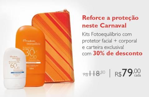 Rede Natura Espaço Carolinado Valle Fotoequilíbrio Kits com Carteira Exclusiva de 02 a 08.02