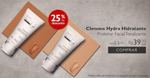 Rede Natura Espaço Carolina do Valle Natura Chronos Hydra Hidratante Protetor Facial Tonalizante