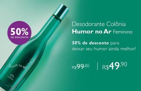 Rede Natura Espaço Carolina do Valle Promoção Natura Humor no Ar com 50% de desconto 01 a 07 03 2016