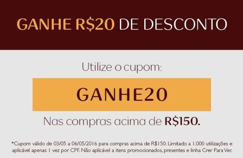 Rede Natura Espaço Carolina do Valle Cupom R$ 20,00 de Desconto de 03 até 06 05 16