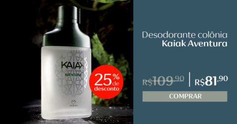 Rede Natura Espaço Carolina do Valle Kaiak Aventura Desodorante Colônia
