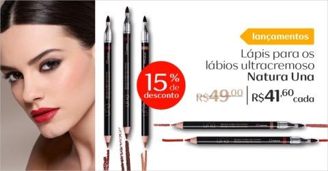 Rede Natura Espaço Carolina do Valle Lançamento Maquiagem Promoção de Natura Una Lápis para os Lábios 18.05 a 06.06