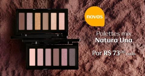 Rede Natura Espaço Carolina do Valle Lançamento Maquiagem Promoção de Natura Una Novas Palettes Mix 18.05 a 06.06