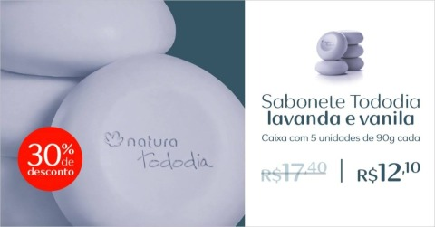 Rede Natura Espaço Carolina do Valle Natura Tododia Sabonetes Lavanda e Vanila de 03 até 09 05 16