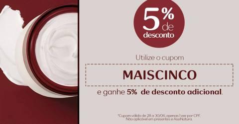 Cupom MAISCINCO