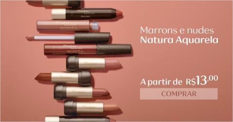 Marrons e Nudes Natura Aquarela