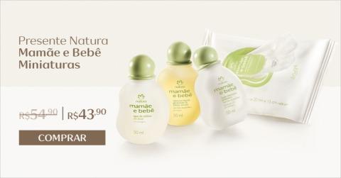 Natura Mamãe e Bebê Presente Miniaturas